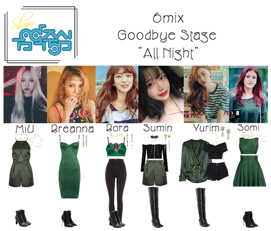 "《6mix》Show! Music Core Goodbye Stage ""All Night"""