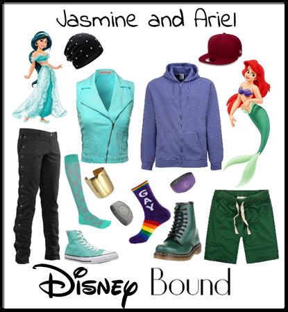 Butch Jasmine and Ariel Disney bound