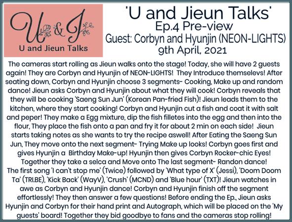 [U and Jieun Talks] Ep.4 Preview-Corbyn & Hyunjin