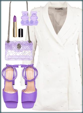 White blazer dress #3 ~
