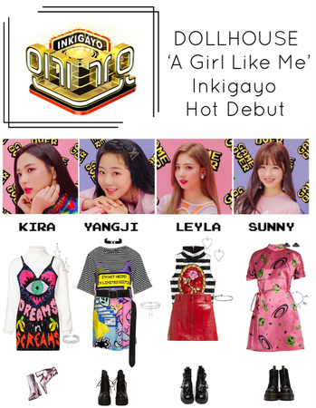{DOLLHOUSE} Inkigayo 'A Girl Like Me' Hot Debut Stage