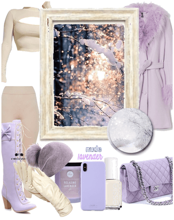 Lavender and Nude