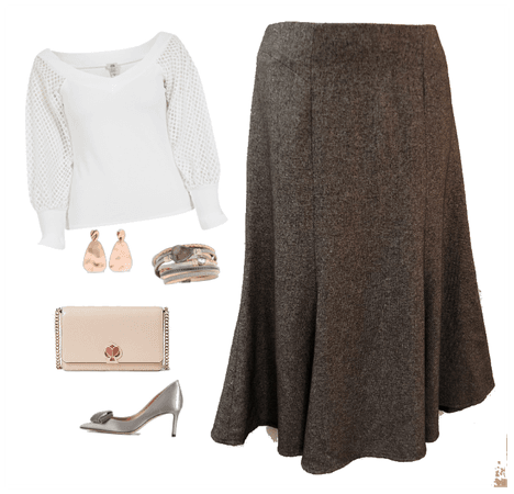 CATO GRAY SKIRT