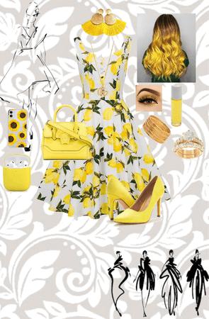 pretty dress yellow💛💛