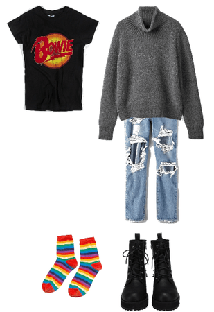 Warm book reading comfy outfit