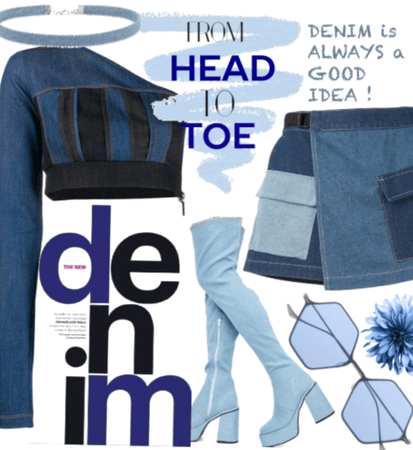 all denim, from head to toe