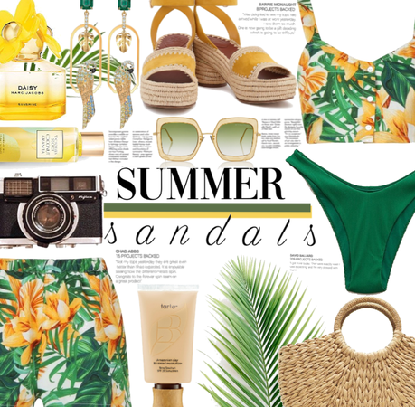 Tropical Summer Sandals! 🏝💛💚
