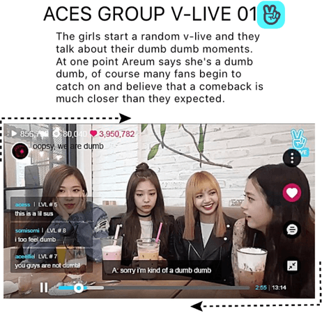 {V-LIVE} Aces talk to the fans