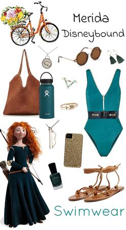 Merida Swimwear Disneybound