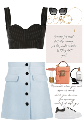 two elegant pieces outfit with gold jewelry