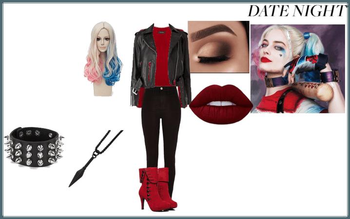Harley Quinn inspired school/ date night