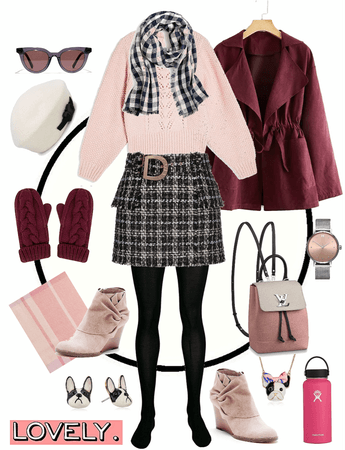 Preppy Winter Wear Pink and Black