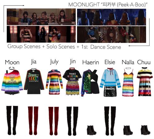 ☾MOONLIGHT☽ '피카부 (Peek-A-Boo)' M/V | Group Scenes + Solo Scenes + 1st Dance Scene