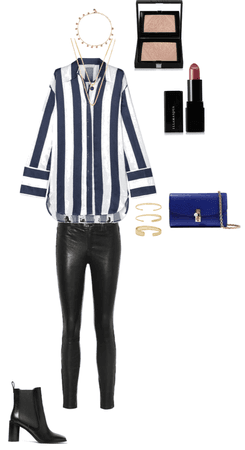 High casual blue look