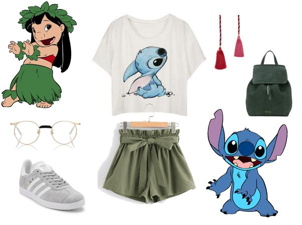 Hula Stitch 626 Disneybound