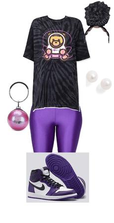 purple street wear