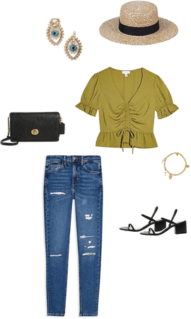 Green olive top