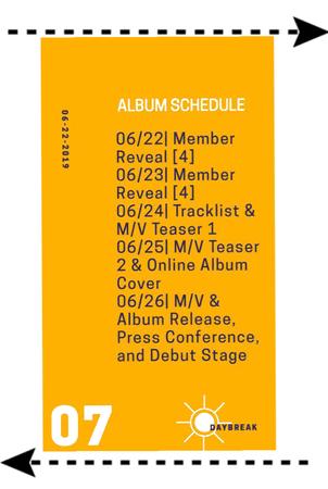 Daybreak's album schedule