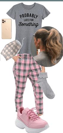 Pretty Pink Plaid Pants