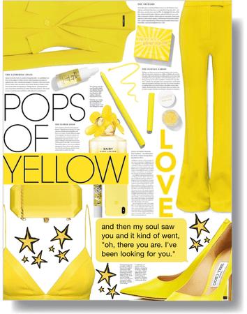 pops of yellow 💛