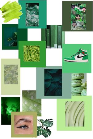 green moodboard
