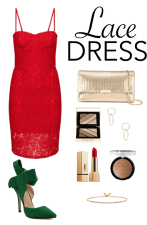 Lace Dress Christmas Outfit