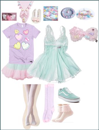 Layered fairy kei