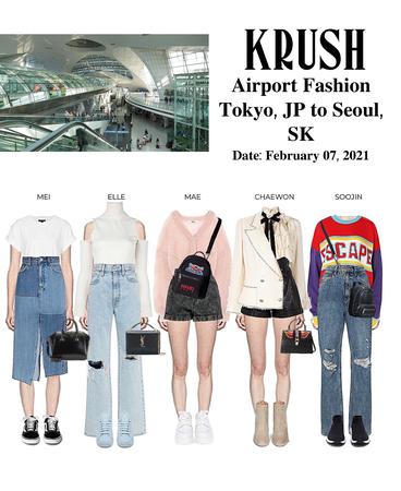 KRUSH Airport Fashion Tokyo To Seoul