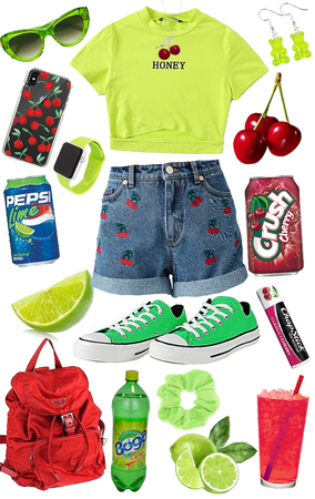 lime and cherry soda