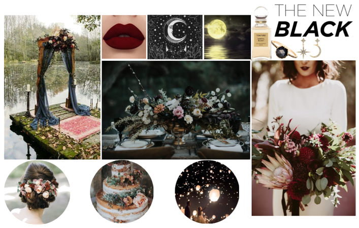 Dark & Moody Wedding Mood Board
