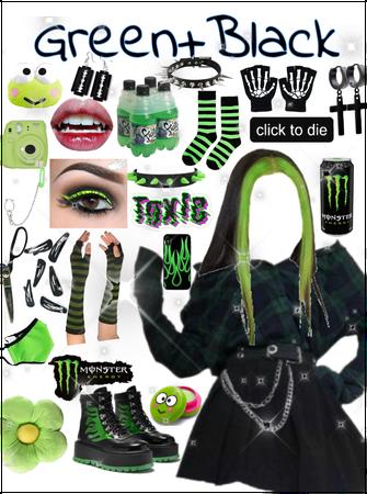 green + black💚🖤