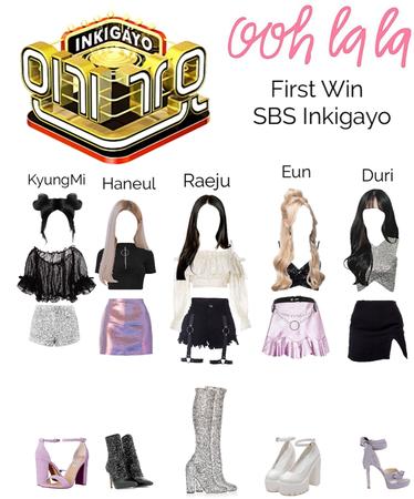 SBS Inkigayo Ooh La La first win - RO5EY