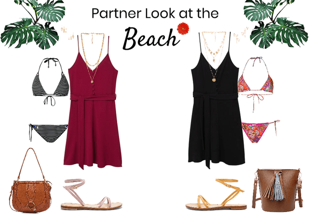 Partner Look at the Beach