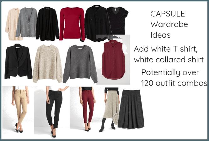 Capsule wardrobe- Red grey beige- casual business?