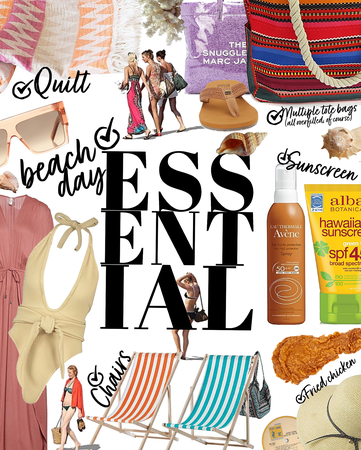 essential checklist | beach day