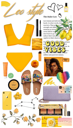 LEO YELLOW SWIM