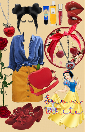 Snow White disneybounding collage!