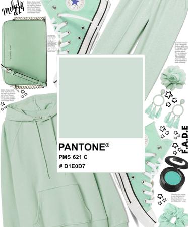 Pantone Mint Green in Sweats