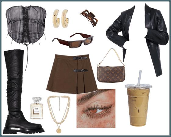 brown + black