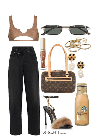 Brown Edgy Outfit