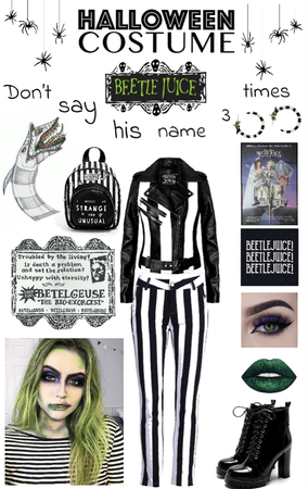 Beetlejuice Halloween Costume🕸🕷