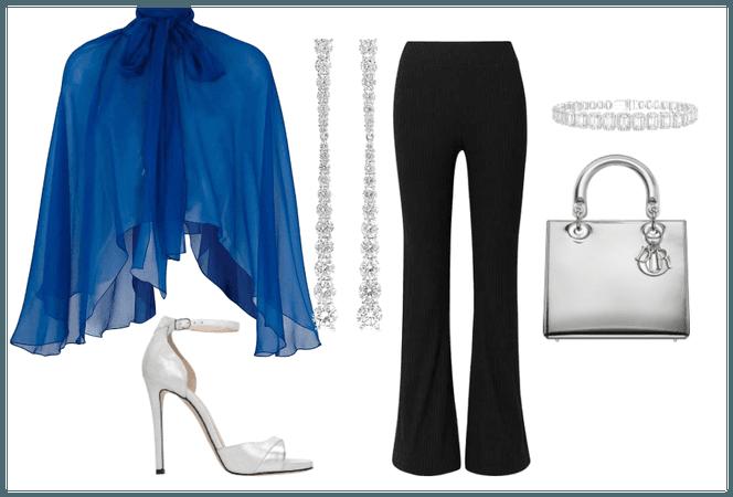 blue formal chic
