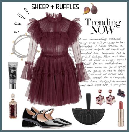 Fall 2020: Sheer + Ruffles
