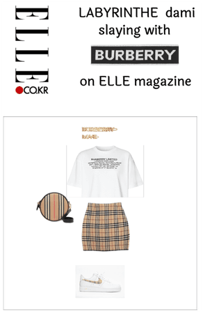 Dami 's burberry 4th outfit on ELLE magazine