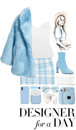 Light Blue & White