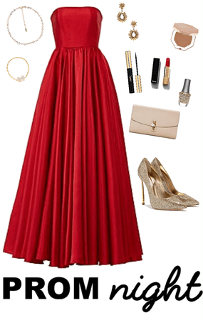 Red Prom Dress Look