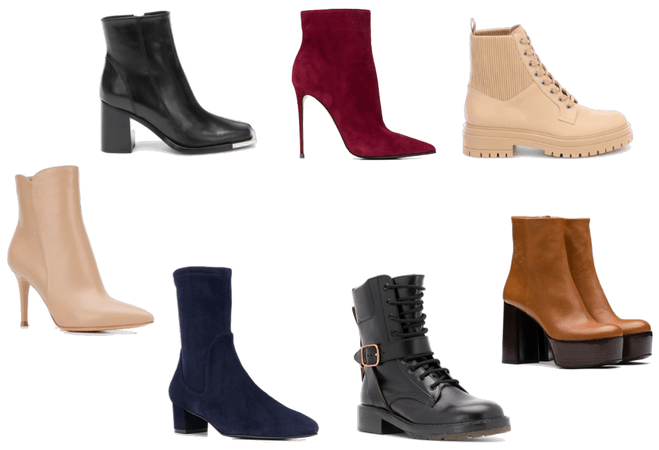 Ankle boots with clothing