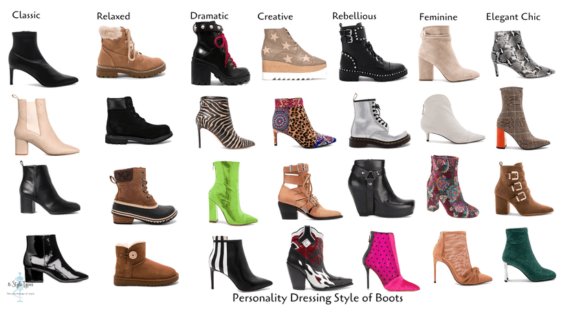Personality dressing style of boots