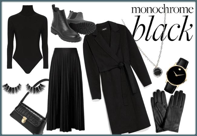 winter monochrome black