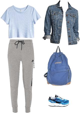 Outfit campera de jeans